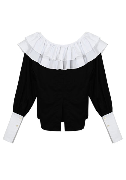 The Isaac Blouse (Black & White) - Sarah Lai