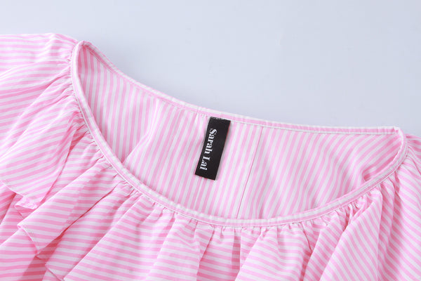 The Charles Blouse (Pink Stripes ) - Sarah Lai
