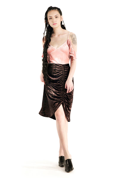 The Juliet Dress (Tea Rose / Chocolate)