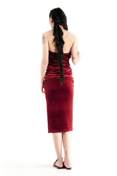 The Willow Tube Dress (Maroon)