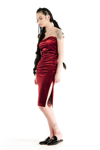 The Willow Tube Dress (Maroon) - Sarah Lai