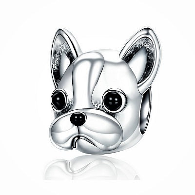 Perle argent massif Frenchie