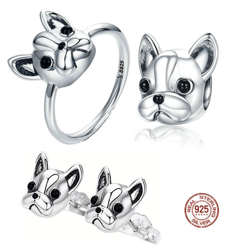 Ensemble BBC Frenchie Argent massif - Bulldog&CoFolies