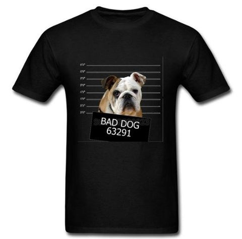 T-shirt homme Bad Dog Anglais - Bulldog&CoFolies