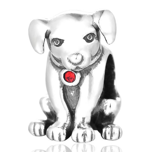 Charms argent massif Passion Chien - Bulldog&CoFolies