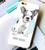 Coque souple iPhone 4-5-6-7-8-X french bulldog - Bulldog&CoFolies