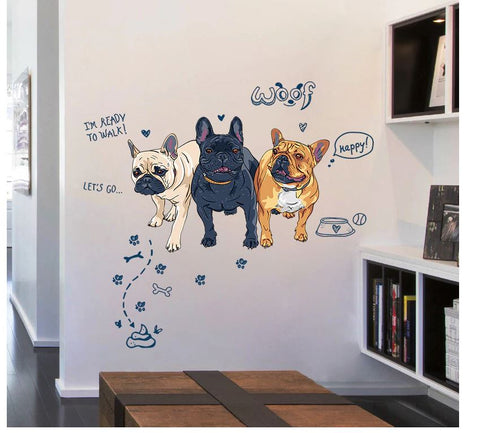 Kit stickers 3 boubous - Bulldog&CoFolies