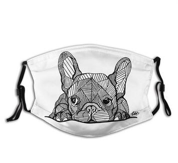 Masque filtrant graphique adulte - Bulldog&CoFolies