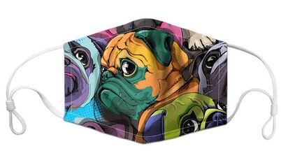 Masque filtrant Passion Carlin adulte - Bulldog&CoFolies