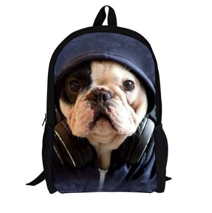 Sac à dos collège collection Bouledogue - Bulldog&CoFolies