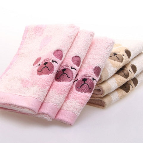 Mini-serviette de toilette puggy - Bulldog&CoFolies