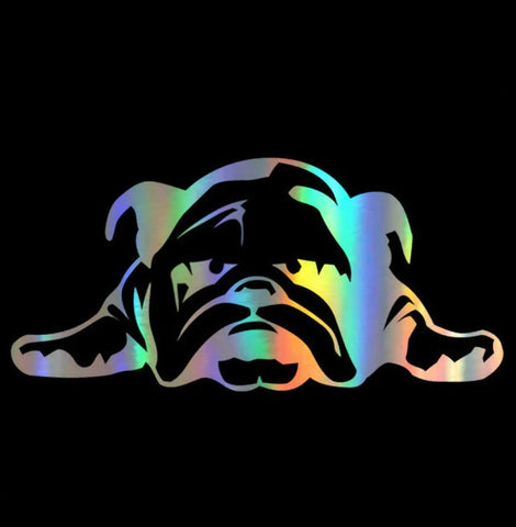 Sticker bouledogue anglais métal