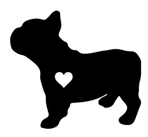Car sticker love boubou - Bulldog&CoFolies