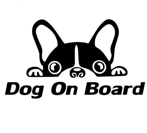 Car sticker dog on board - Bulldog&CoFolies