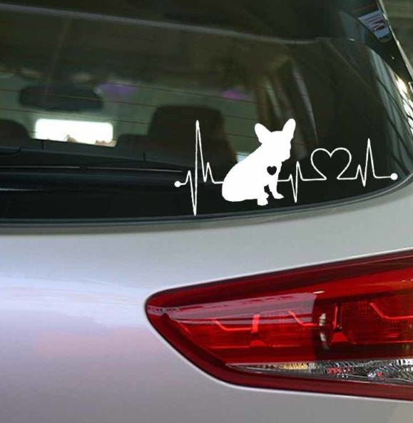 Car sticker coeur... - Bulldog&CoFolies