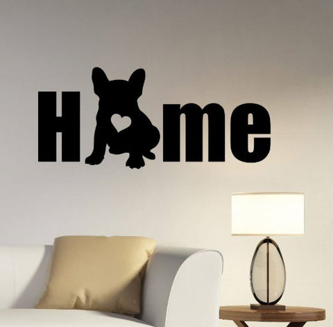 Grand sticker mural bouledogue home - Bulldog&CoFolies