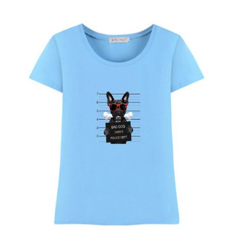 T-shirt bad dog femme couleur - Bulldog&CoFolies