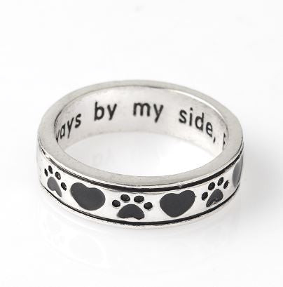 "Bague Bouledogue ""By My Side"" (Acier) - Bulldog&CoFolies"