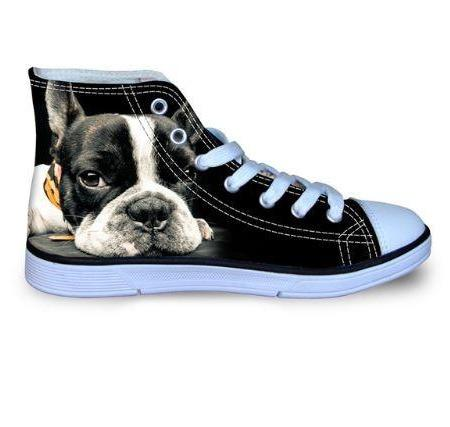 Baskets boulis  pugs toile