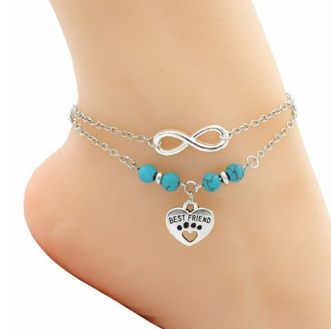 "Bracelet de cheville ""Best Friend"" - Bulldog&CoFolies"