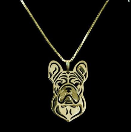 Collier Bouledogue français Or - Bulldog&CoFolies