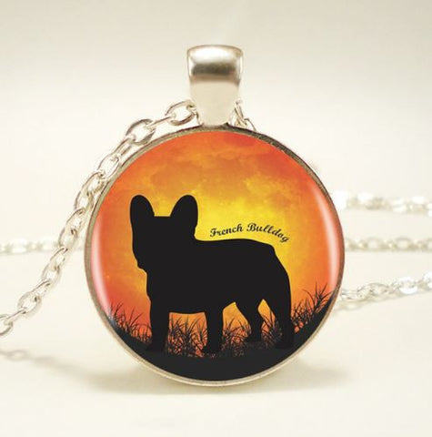 Collier french Bulldog en inclusion - Bulldog&CoFolies
