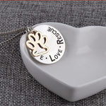 Collier Live Love Rescue argent - Bulldog&CoFolies