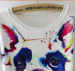 Sweat-shirt frenchie aquarelle - Bulldog&CoFolies
