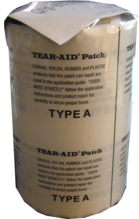 Tear Aid 15cm x 15cm Patch (TYPE A) Canvas, Fabric, Kite, Swag, Sail, Annexe