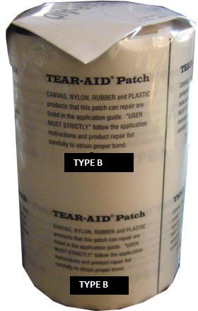 Tear Aid 15cm x 15cm Patch (TYPE B) Vinyl, PVC, Pool Liner, Zorb Ball, Seat, Inflatable, Pool Toy