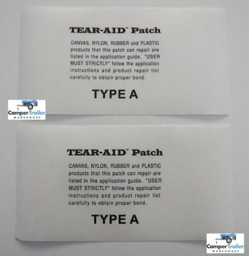 Tear Aid - 2 x (15cm x 7.65cm) Individual Patches, TYPE A