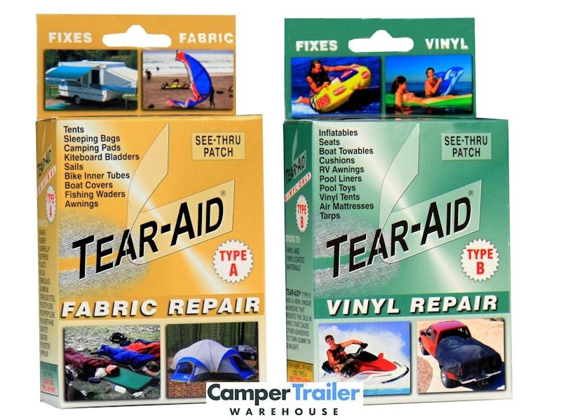 Tear Aid - (Type A + Type B) Combo 2 x Repair Kits Total