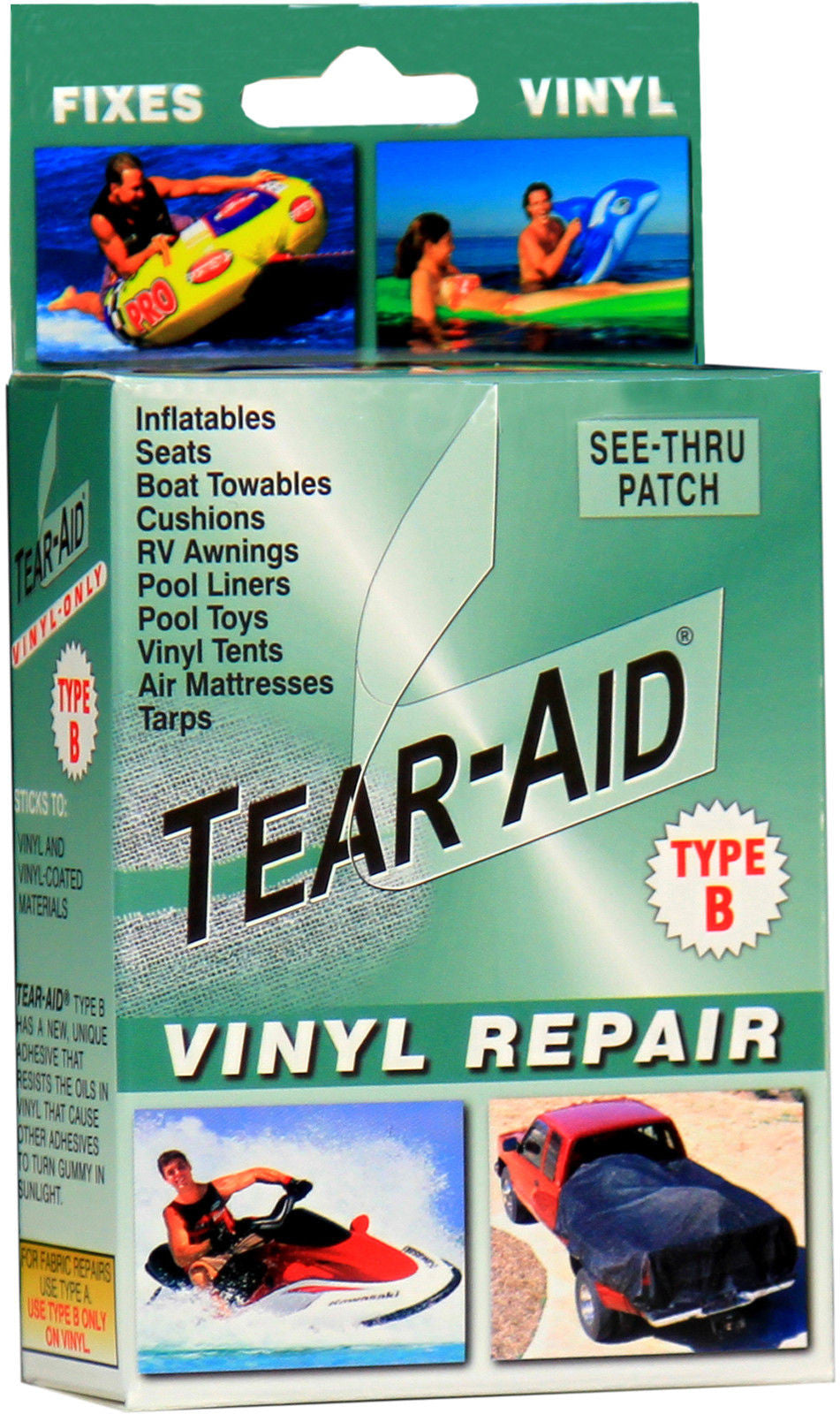 Tear Aid - Retail Box Repair Kit Type B (Vinyl, PVC Products)