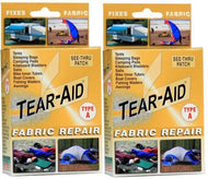 Tear Aid - 2 x Retail Box Repair Kit Type A (Fabric, Canvas, Kite, Sail, Camper Repair)