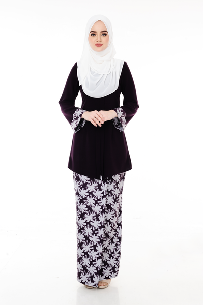 Kebaya Adelle - BJK3008D - Dark Purple