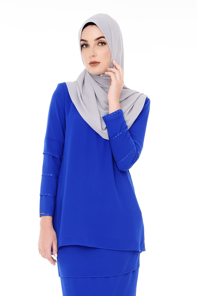 c633ab47beb Blouse Eva - BL20005-D - Royal Blue | D'YANA