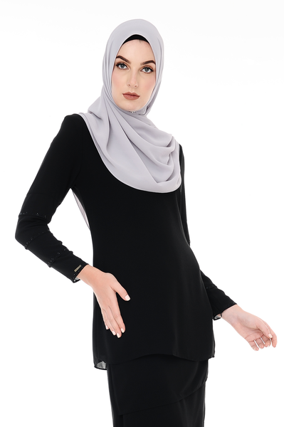 Blouse Eva - BL20005-D - Charcoal Black