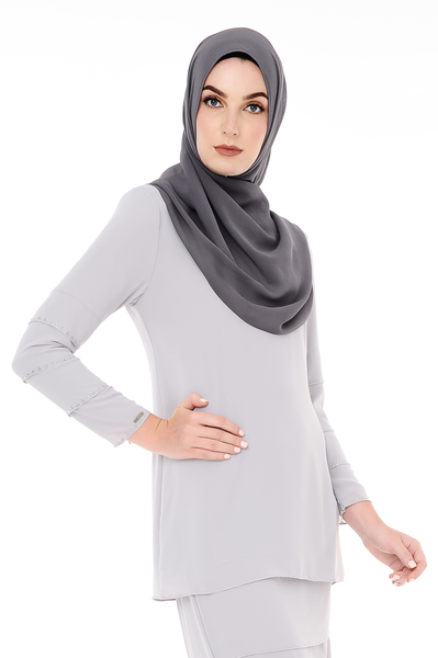 Blouse Eva - BL20005-D - Light Grey