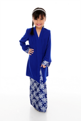 Kebaya Kids Adelle - BJK3008D-XS - Royal Blue