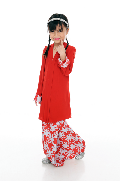 Kebaya Kids Adelle - BJK3008D-XS - Red Lipstic