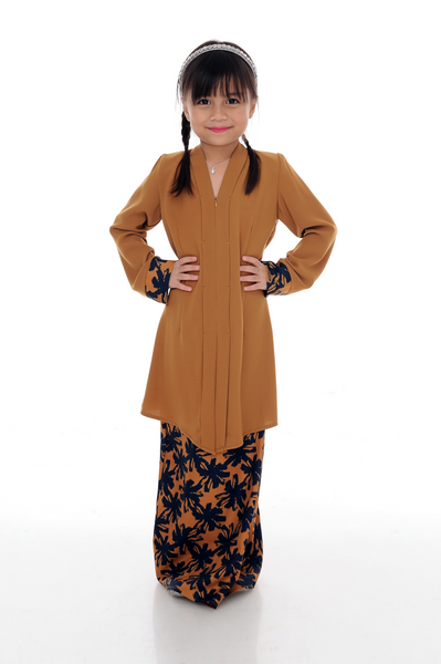 Kebaya Kids Adelle - BJK3008D-XS - Spicy Brown