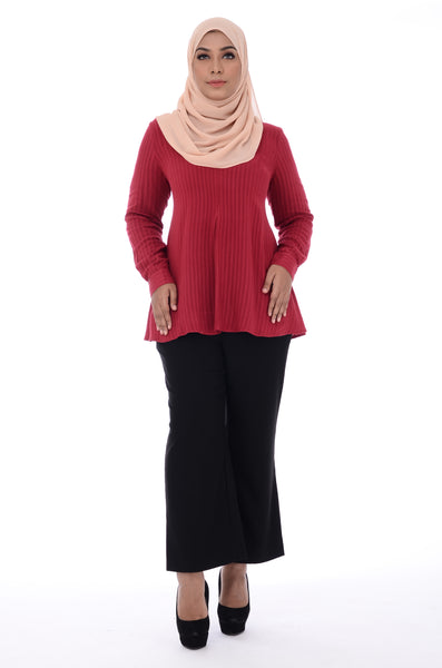 Blouse D'YANA Ella- BL60027-D - Red