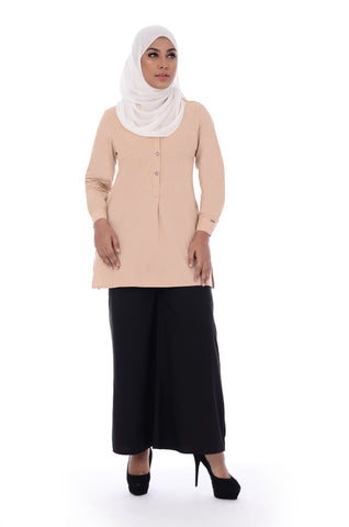 Blouse D'YANA Ivory - BL357- Light Brown