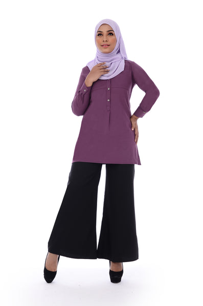 Blouse D'YANA Ivory - BL357- Purple
