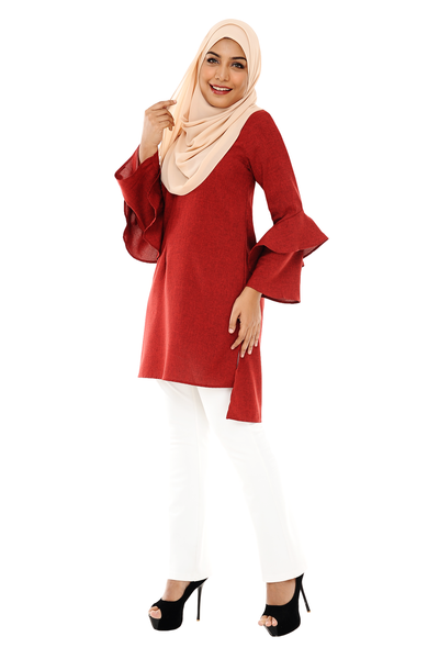 Blouse Calista - BL1273 - Scarlet Red