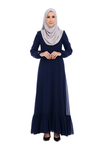 Dress D'YANA Cherise - DRS00026-D - Blueblack