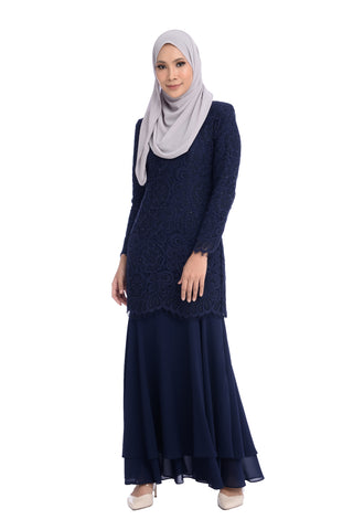 Dress D'YANA Savanna - DRS00018-D - Blueblack