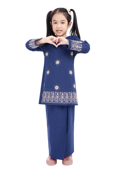 Baju Kurung D'YANA Avalyn Kids - BJK20103XS - Blue