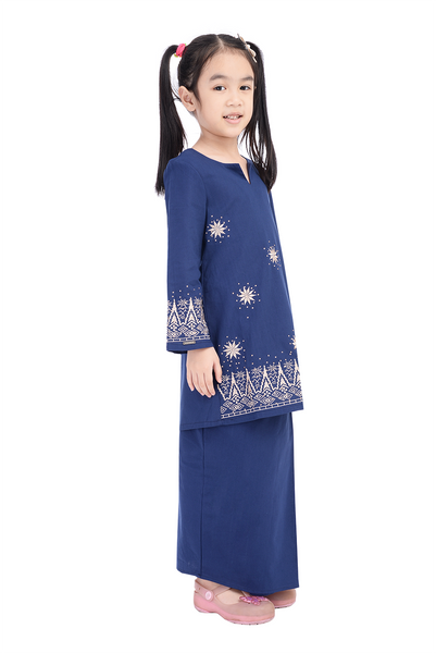 Baju Kurung D'YANA Avalyn Teen - BJK20103S - Blue