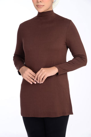 Inner Turtle Neck D'YANA - BL60030 - Brown